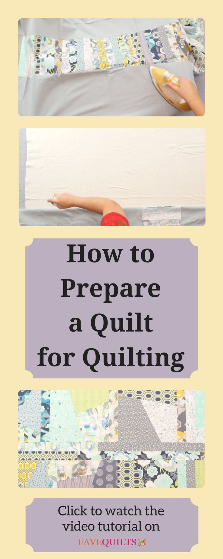 This video will show you how to get it ready for quilting whether you are finishing your quilt yourself or sending it to a long arm quilter.