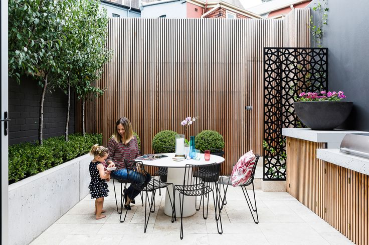 Outdoor space from Victorian terrace renovation in Sydney's inner east by interior designer Tonka Andjelkovic. Photography: Maree Homer | Styling: Janet James | Story: Australian House & Garden