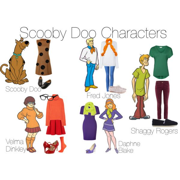 """Scooby Doo Characters"" by sydmonster on Polyvore                                                                                                                                                      More"