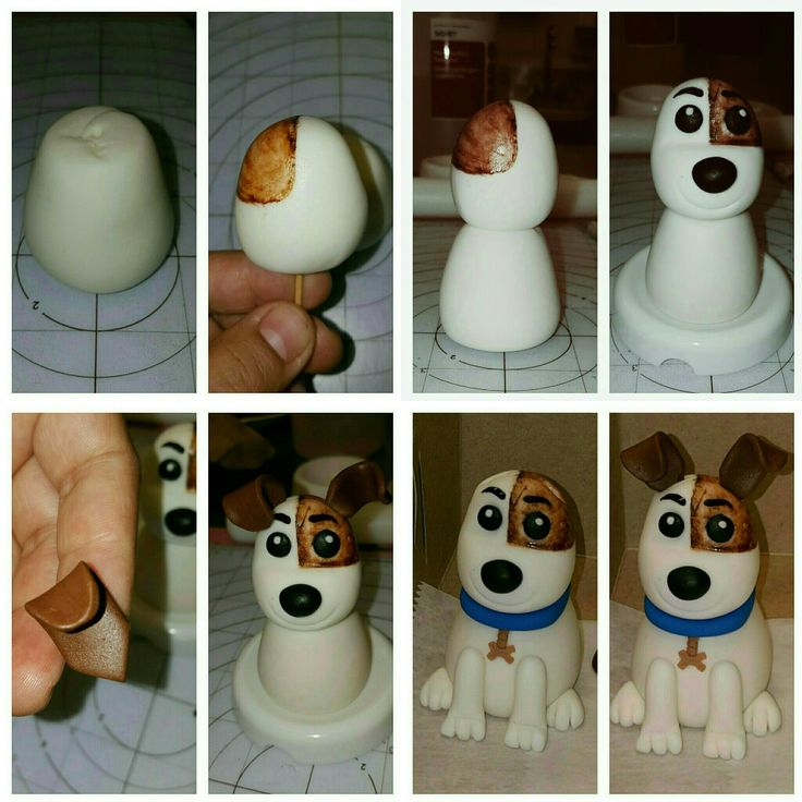 How to make a dog on fondant Max the secret life of pets....como hacer un perro de fondant a max de la película la vida secreta de las mascotas