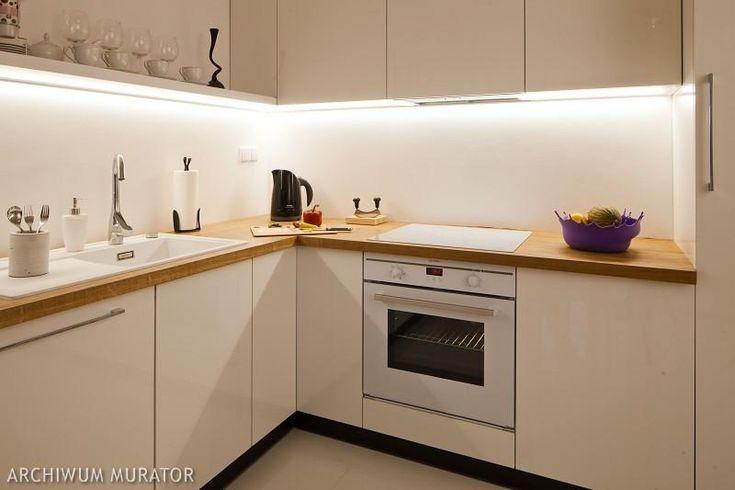 biała kuchnia drewniany blat  Szukaj w Google  Kuchnia   -> Kuchnia Ecru Z Czarnym Blatem
