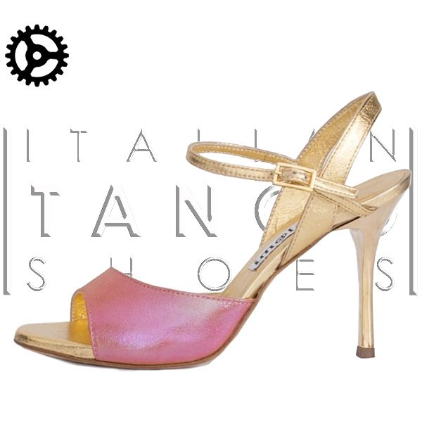 "and what about ""Maia""?? Irresistible.... in Pearlescent coral suede and gold leather http://www.italiantangoshoes.com/shop/en/women/314-alagalomi.html"