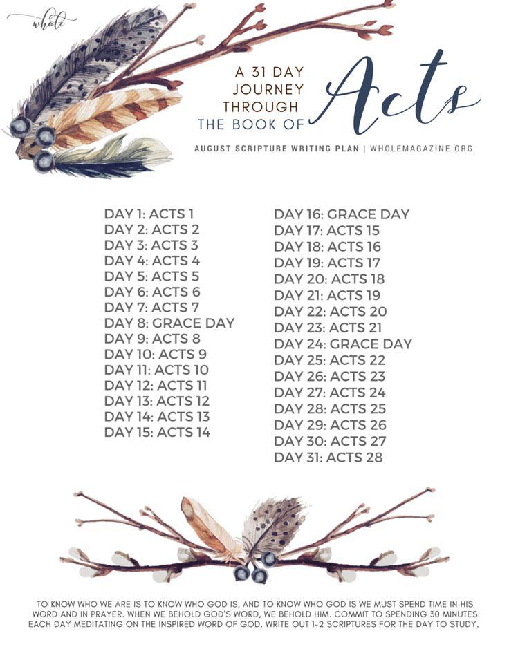 August Scripture Writing Plan // Bible Reading Plan // Bible Study