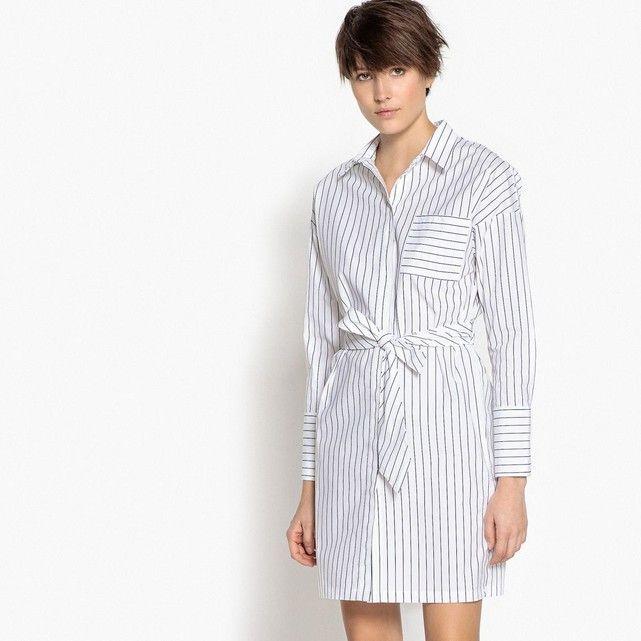 Robe Chemise RayéeCeinture Rayé La Cravate Blancnoir Redoute IYE2WHbeD9