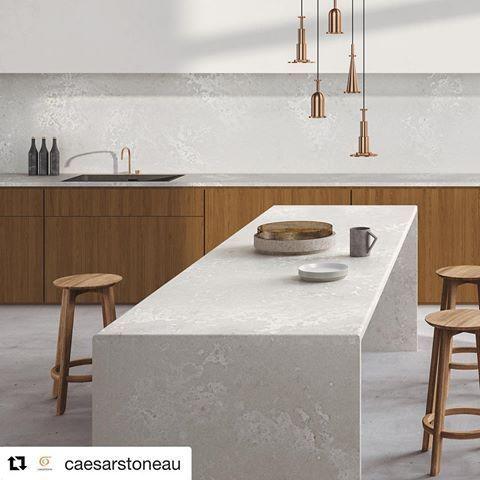 Caesarstone Cloudburst Concrete Quartz Home Decor Kitchen Timber