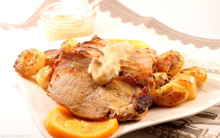 No Conforto da Minha Cozinha...: Lombo de Porco no Forno com Puré de Maçã...é sempr...