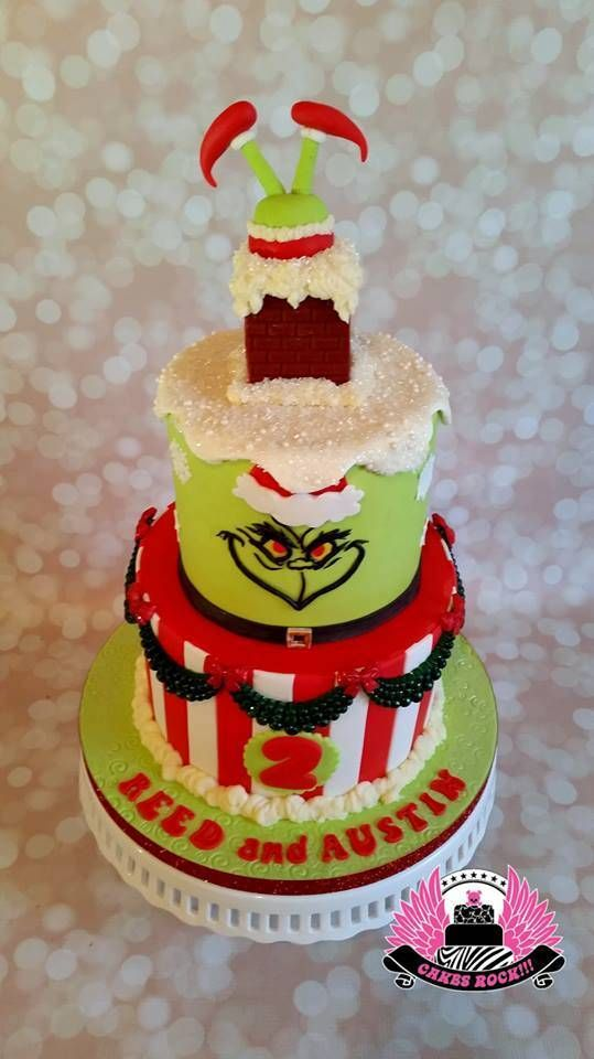 1000 Ideas About Grinch Cake On Pinterest Grinch