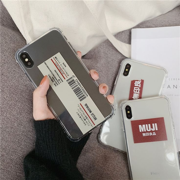 Japan personality Barcode MUJI phone case For iphone 11