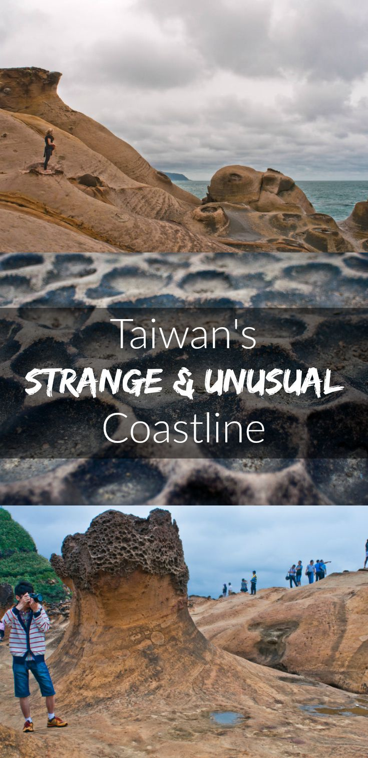 Bizarre rock formations at Yehliu Geopark, just an hour's drive from Taipai, Taiwan