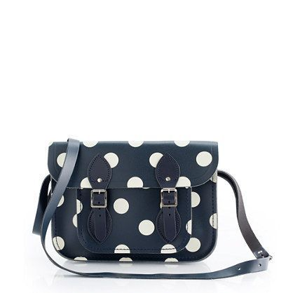 I love this polka dot satchel! Crystal