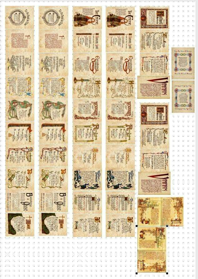 It's just an image of Crazy Printable Spell Book Pages