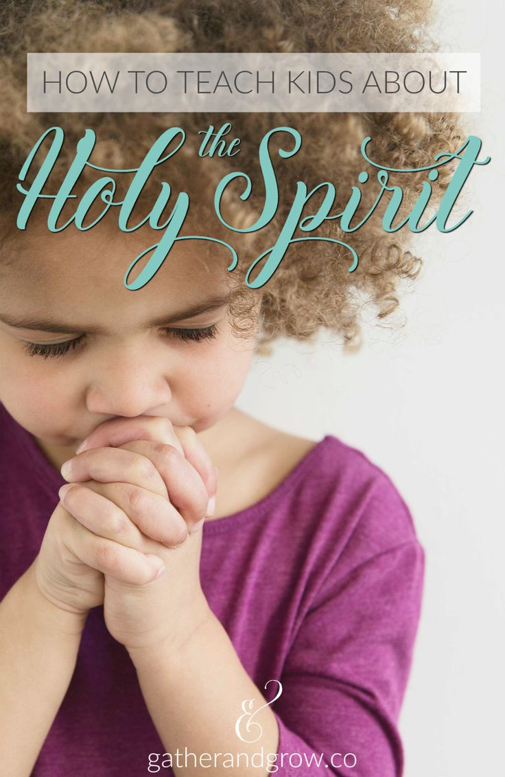 Teaching Kids About the Holy Spirit. Talking points + Bible verses to guide your conversation.