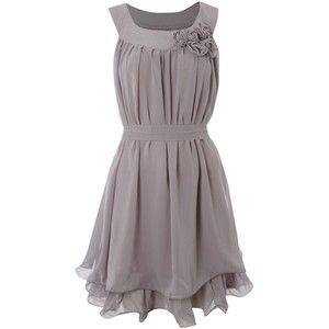 grey flowy dress