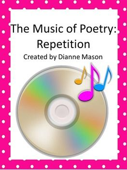 This short lesson on repetition in poetry will give students the ability to understand how this element creates rhythm and enhance meaning. It includes the following items: •A detailed teacher's guide with links to poems •A short Power Point Presentation to go along with the discussion •A creative writing exercise •Suggestion for further discussion