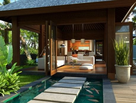 Genial Balinese House Traditional Tiger Woods Jupiter Home Swimming Pool Pictures