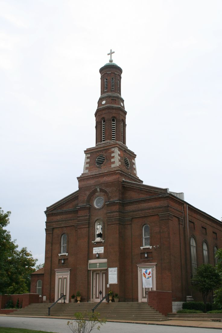 St. Vincent DePaul Church- City Landmark #32. Designed by Meriwether Lewis Clark, and George Barnett in 1845, with the front elevation attributed to Franz Saler in 1849, the St. Vincent de Paul Church is one to the oldest active churches in St. Louis.  The church is located at 1417 South 9th. St.
