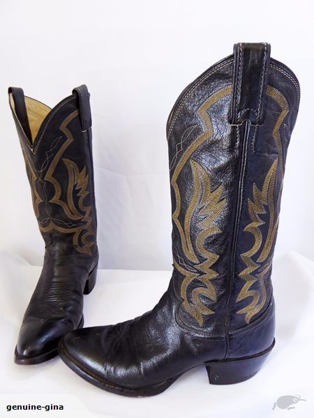 JUSTIN made in USA all leather cowgirl boots size 7 mens 9 womens