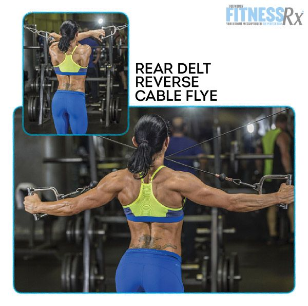 Shoulder On With IFBB Pro Candice Keene - REAR DELT REVERSE CABLE FLY