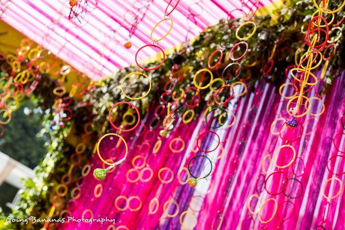 Mehendi Wedding Decor - Funky Mehendi Decor #mehendidecor #wedmegood