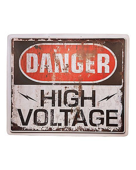 High Voltage Sign - Decorations  - Spirithalloween.com