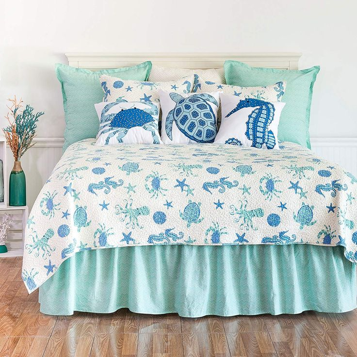 CandF Home Brisbane Mini Set Queen or Full Size Quilt 92 X