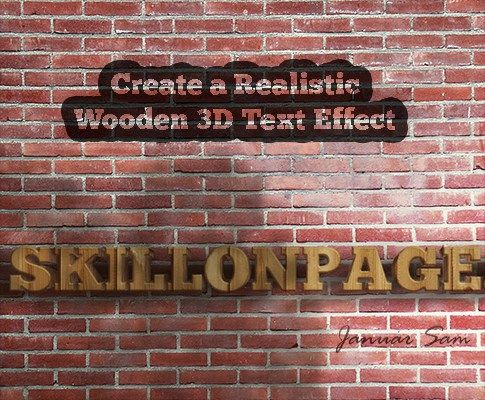 Create a Realistic Wooden 3D Text Effect in Photoshop