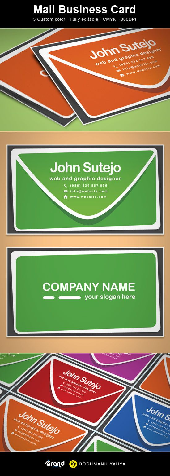 Best 25 free business cards ideas on pinterest free business free business card template mail 5 colors magicingreecefo Choice Image