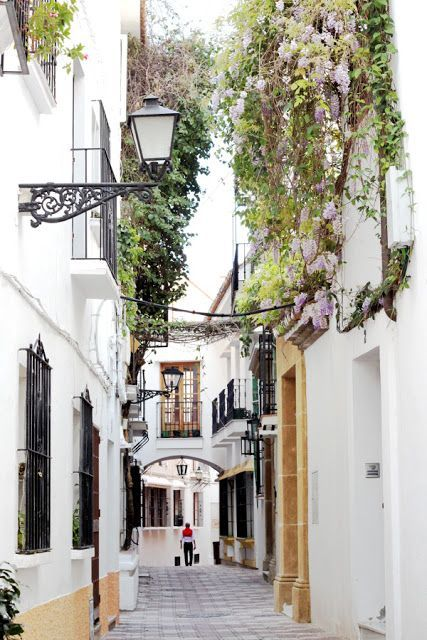 photo by SeaofGirasoles: streets of Marbella