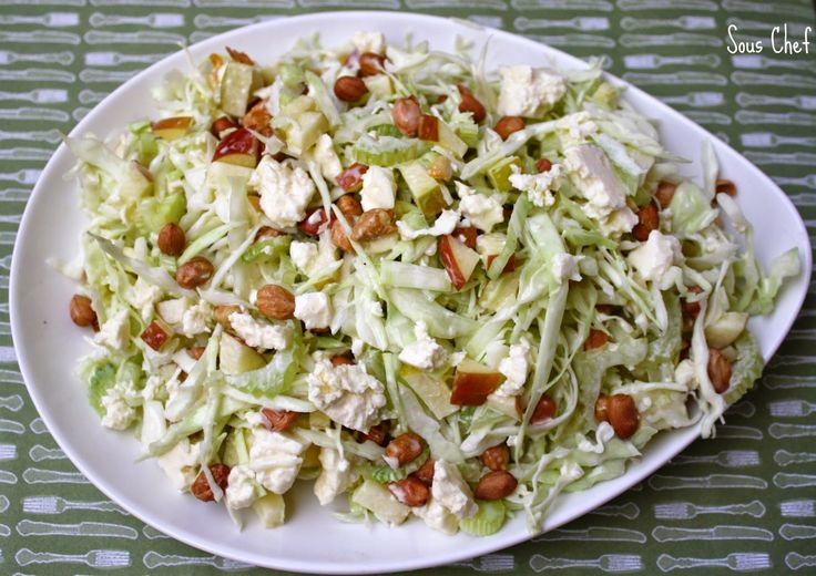 Waldorf Coleslaw (2 Points+) | Weight Watchers Recipes