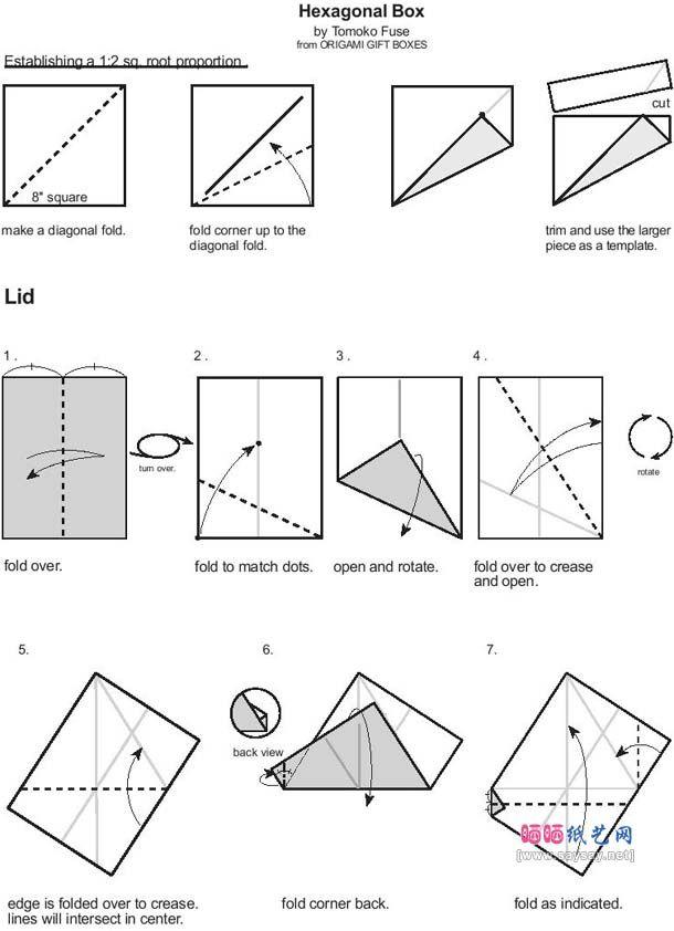flores caja hexagonal tutorial 1