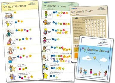 """Making Behavior Charts Work for Your Child With Special Needs: Pre-made charts from <a href=""""http://specialchildren.about.com/od/startachart/p/Special-Needs-Business-Profile-VictoriaChart.htm"""">the Victoria Chart Company.</a> (Photo courtesy of Victoria Ballard)"""