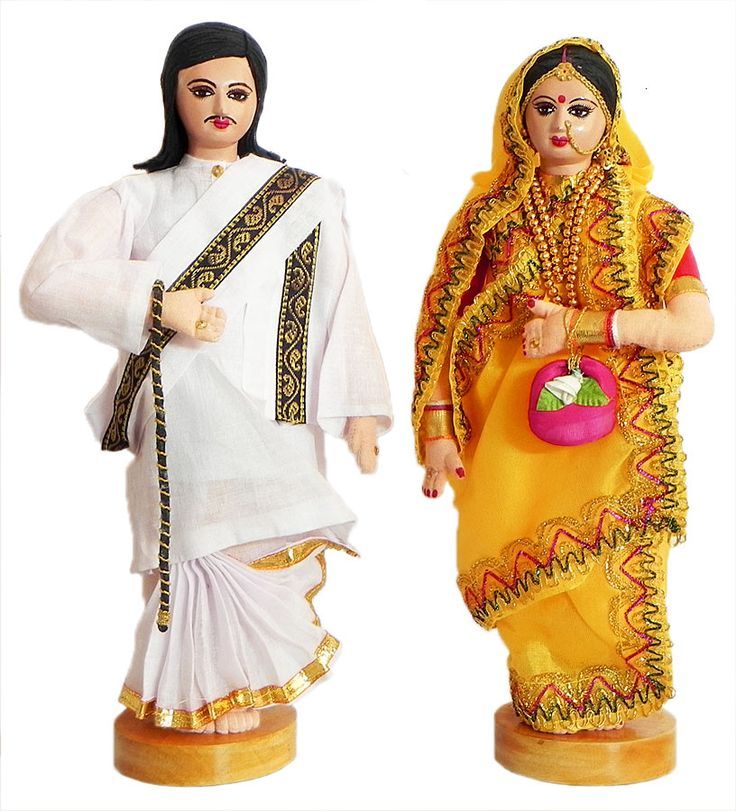 Rich Couple from Bengal, India - Costume Cloth Dolls