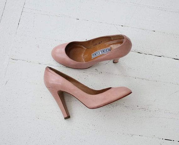 light pink heels / Norma Kamali shoes / pink high by allencompany, $69.00