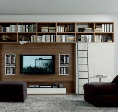 51 migliori immagini pareti attrezzate divisorie su pinterest librerie mobili e soggiorno. Black Bedroom Furniture Sets. Home Design Ideas