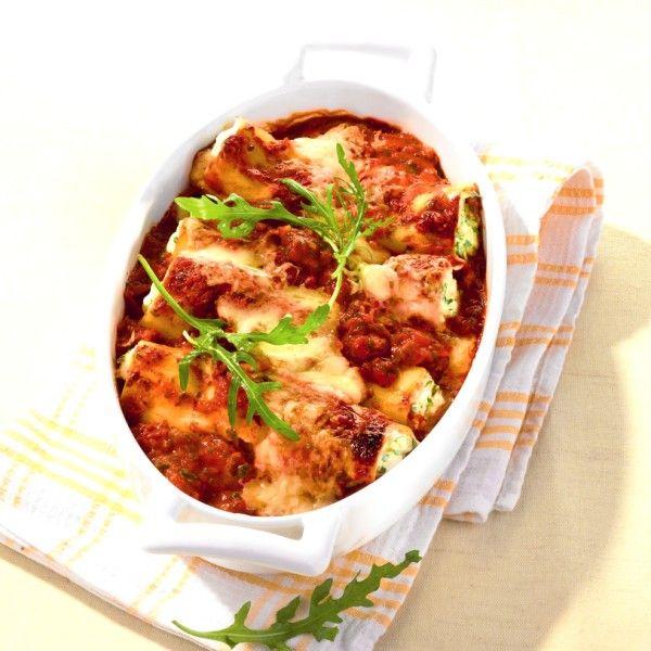 Cannelloni met spinazie-tonijnvulling Recept | Weight Watchers België
