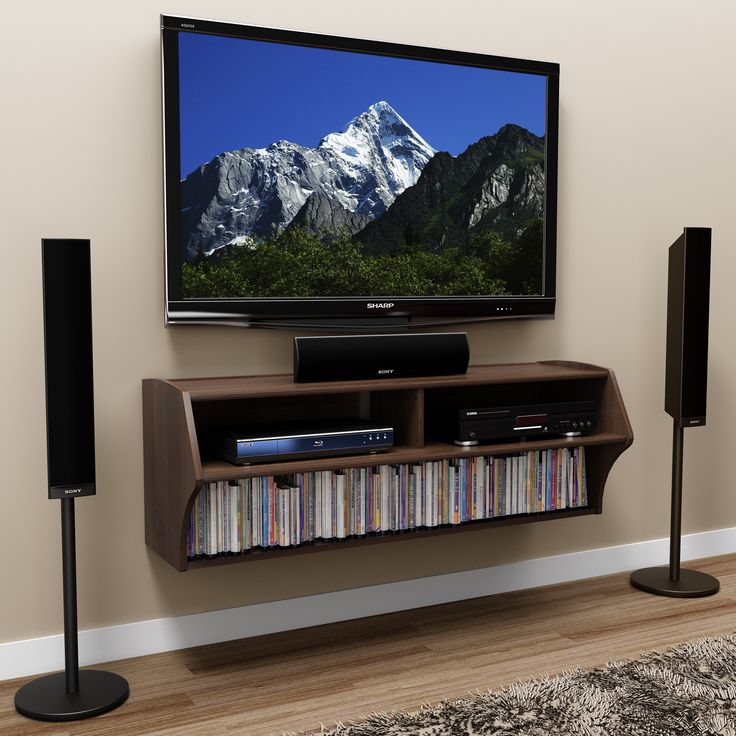 Espresso Wall Mounted AV Console by Prepac - 11 Best Tv Room Images On Pinterest