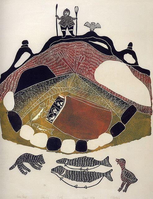 An illustration in Inuit Women Artists