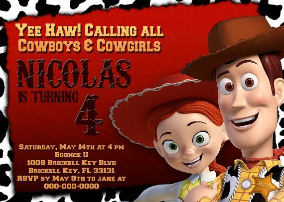 Download Woody Birthday Party Invitation Ideas  Download this invitation for FREE at http://www.bagvania.com/woody-birthday-party-invitation-ideas.html