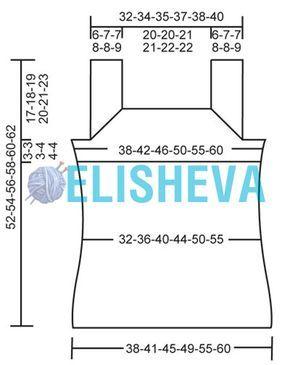 Майка от Drops Design: описание вязания спицами от S до XXXL