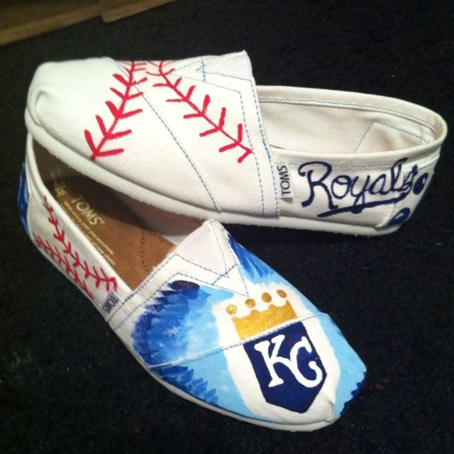 KC Royals Themed TOMs | Shoes I Need | Pinterest