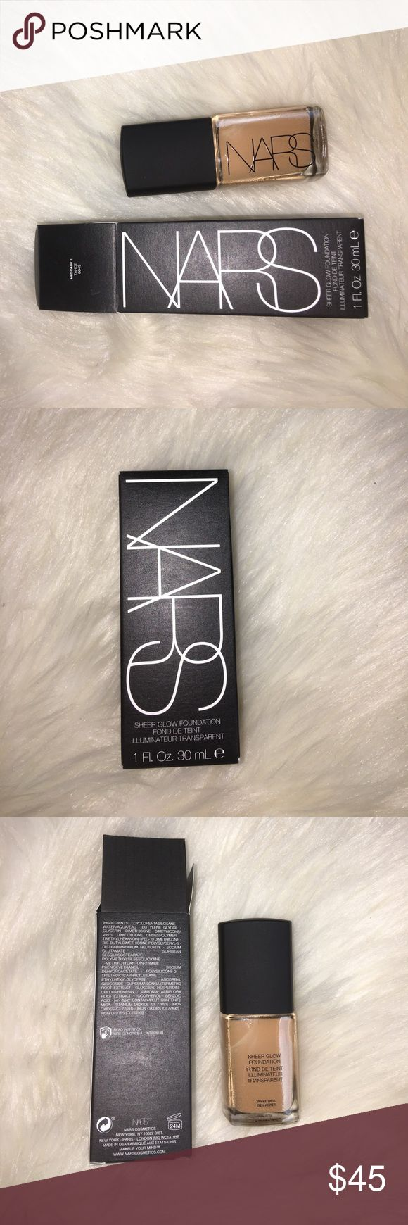 NARS Sheer Glow Foundation: MED/DARK 2 TAHOE NARS Sheer Glow Foundation: MED/DARK 2 TAHOE 6049. Brand New. Never used. 100% of product in bottle. 100% Authentic. No trades. NARS Makeup Foundation