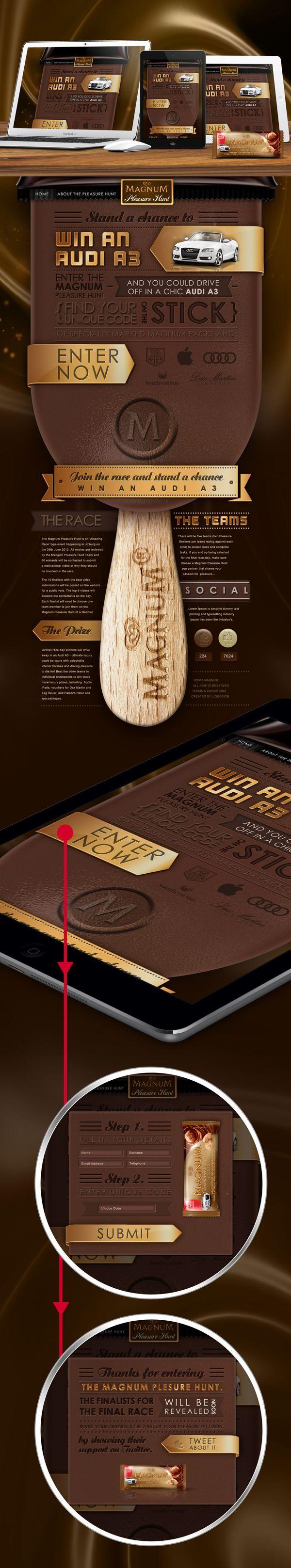 #websitedesign #webdesign #webtemplate #magnum #walls #icecream