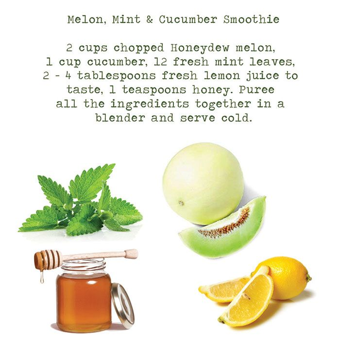 Ayurvedic treatment: melon, mint...good in summer for me at Pitta
