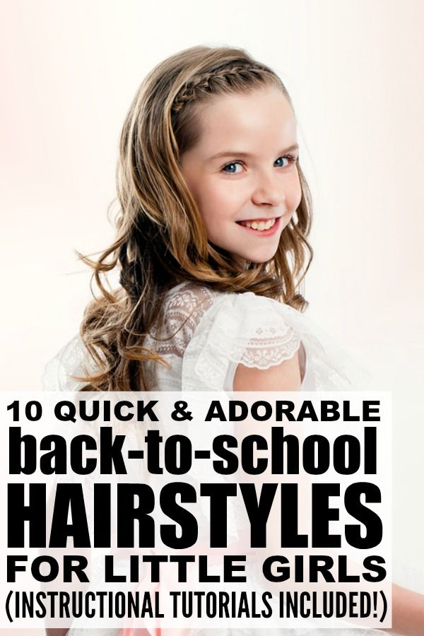If you're looking for quick and adorable long hairstyles for little girls, this collection of tutorials is for you! These are perfect back-to-school hairstyles, and also work for prom and wedding season. I particularly like the braided hairstyles because they are adorable and will keep my daughter's hair from getting ratty throughout the day. Full tutorials included!