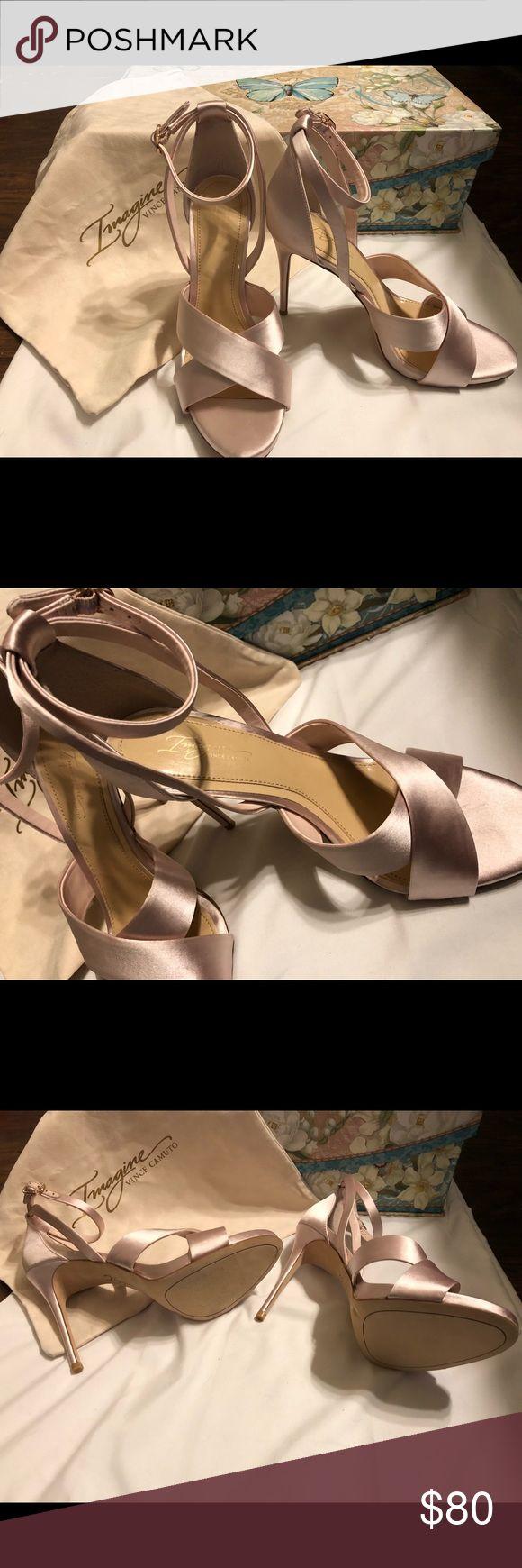 Vince Camuto Imagine light pink high heels Light pink high heels open toed! Brand new never worn Vince Camuto Shoes Heels