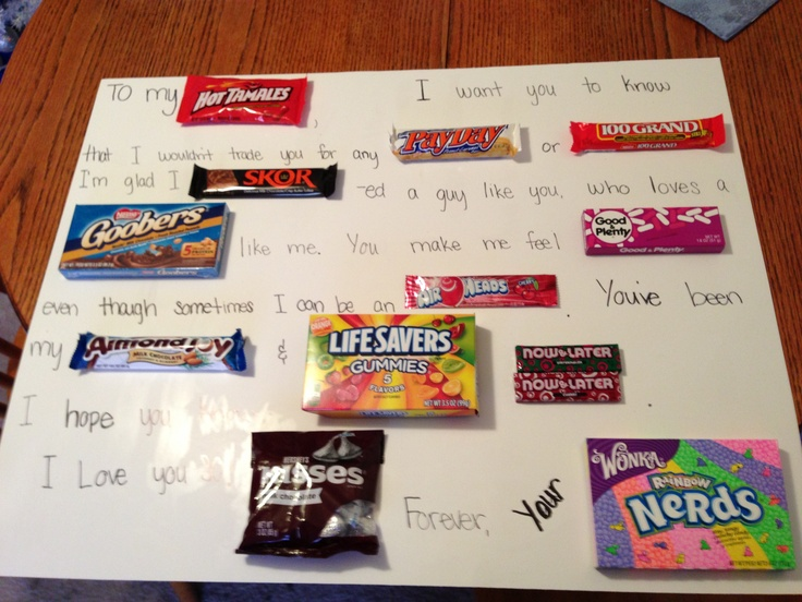 Candy poster for someone you love arts and crafts