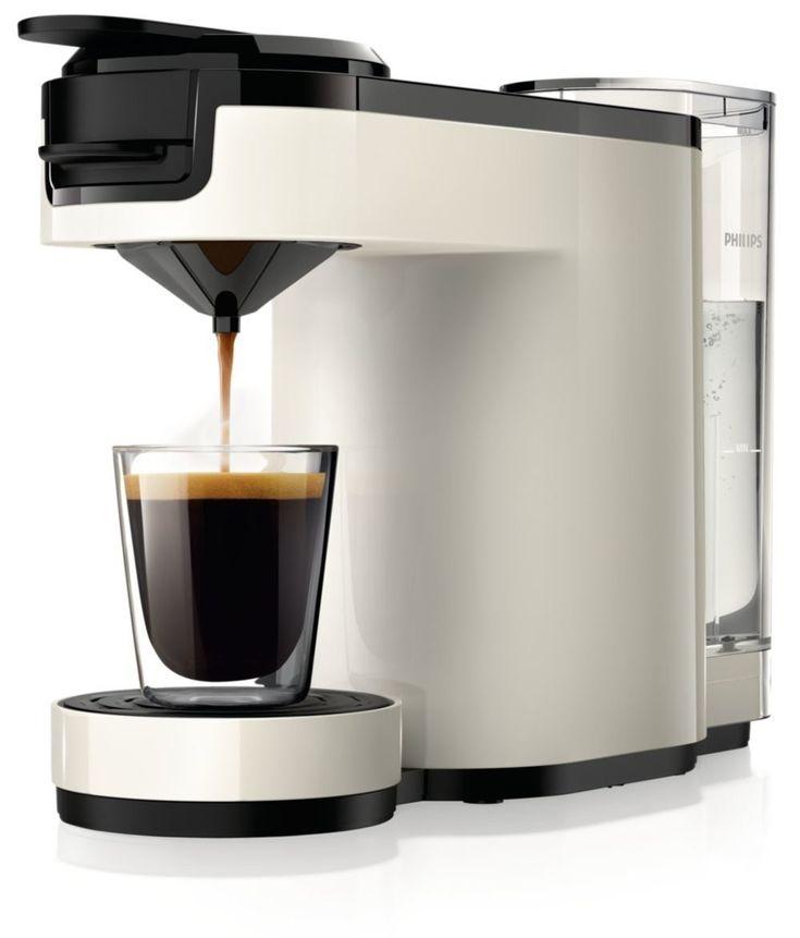 Senseo Up HD7880/10 Pod coffee machine 0.7L 7cups Black,White coffee maker - coffee makers (freestanding, Semi-auto, Pod coffee machine, Coffee pod, Black, White, Buttons)
