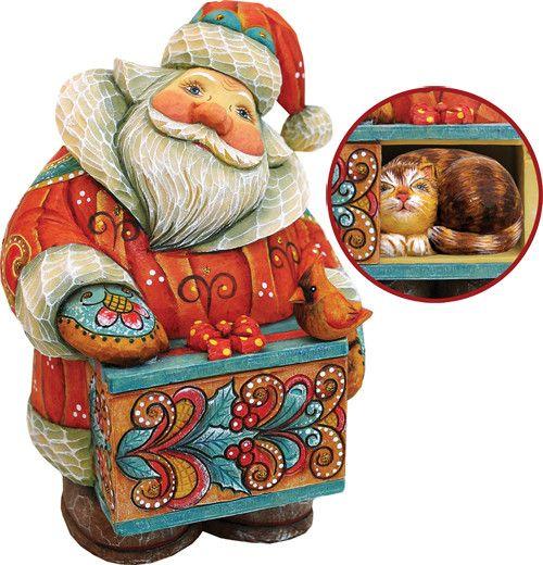Derevo Santa with Cat Box