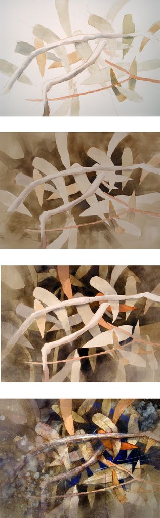 underpainting/negative painting plus gesso this explains negative painting in a way I can assimilate ....