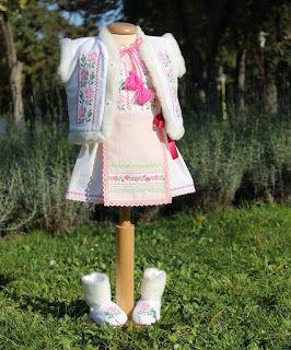 Trusou Botez Personalizat, Trusouri Botez, Hainute Botez, Lumanari Botez : Costumas de botez complet de iarna pentru fetite